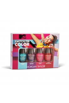 Morgan Taylor Nail Lacquer - MTV Switch On Color 2020 Collection - Mini 4 pack - 5ml / 0.17oz Each