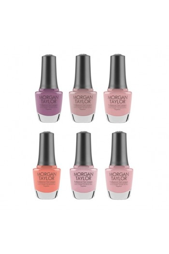 Morgan Taylor Nail Lacquer - The Color Of Petals Collection - All 6 Colors - 15 ml / 0.5 oz Each