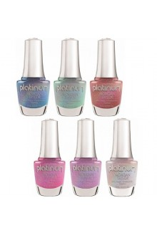 Morgan Taylor Nail Lacquer - Platinum Collection - All 6 Colors - 15 mL / 0.5 Fl Oz Each