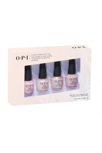 OPI Nail Lacquer - Always Bare For You Mini 4-Pack - 3.75ml / 0.125oz each