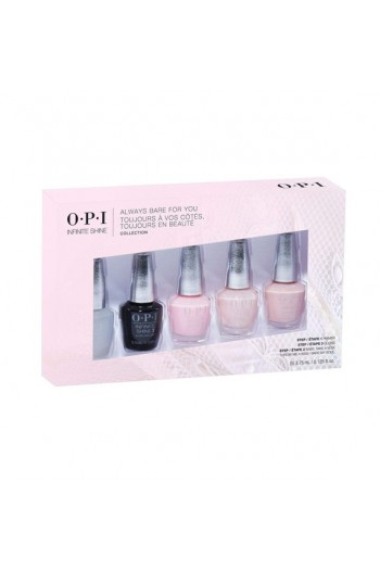 OPI Infinite Shine - Always Bare For You Collection Mini 5 pk - 3.75 mL / 0.125 oz Each