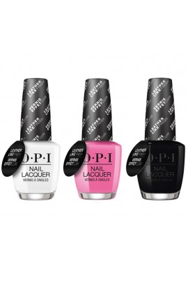 OPI Nail Lacquer - Grease Leather Like Finish Collection - All 3 Colors - 0.5 oz /15 mL Each