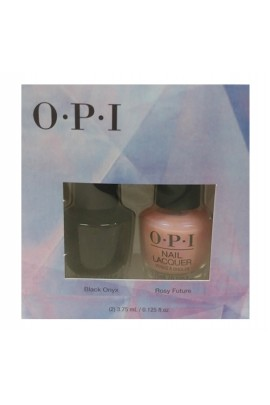 OPI Lacquer - Mini 2 Pack - Black Onyx + Rosy Future DUO - 3.75 mL / 0.125 oz each