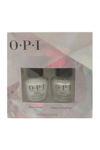 OPI Lacquer - Mini 2 Pack - Alpine Snow + Happy Anniversary! DUO - 3.75 mL / 0.125 oz each