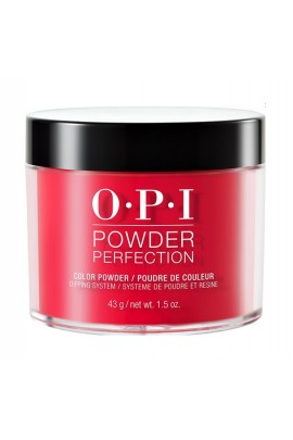 OPI Powder Perfection - Acrylic Dip Powder - Coca-Cola Red - 1.5oz / 43g