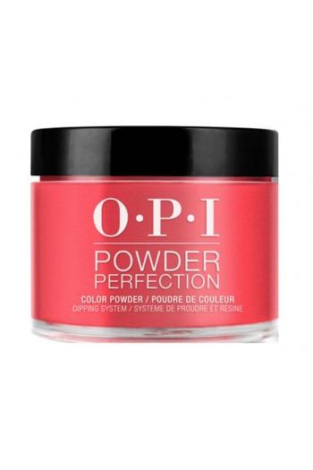 OPI Powder Perfection - Acrylic Dip Powder - Red Hot Rio - 1.5oz / 43g