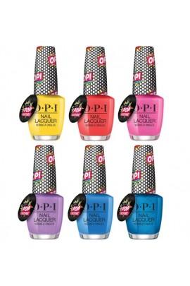 OPI Nail Lacquer - Pop Culture Collection - All 6 Colors - 15 mL / 0.5 fl oz Each