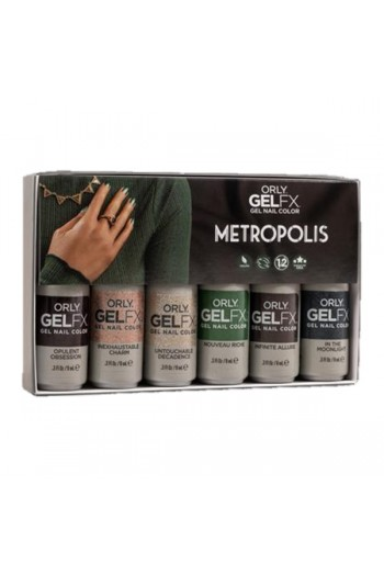 ORLY Gel FX - Metropolis Collection - All 6 Colors - 0.3oz / 9ml Each