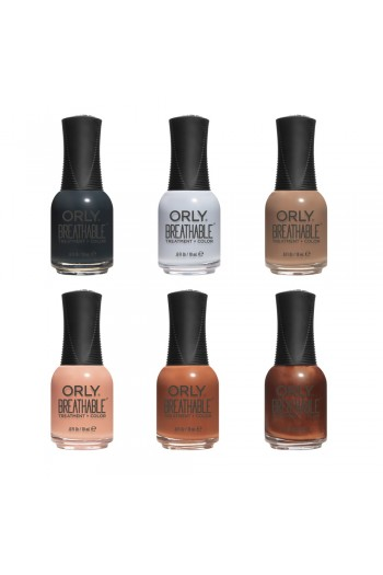 ORLY Breathable Lacquer - Treatment+Color - Dusk To Dawn 2019 Summer Collection - All 6 Colors - 0.6oz / 18ml Each
