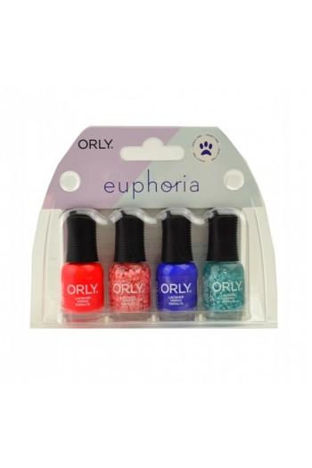 Orly Nail Lacquer - Euphoria 2019 Collection - Mini 4pc Kit - 0.18oz / 5.3ml Each