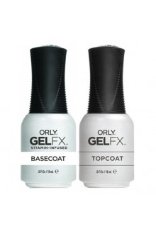 Orly Gel FX - Top and Base Coat - 0.6 oz / 18 mL Each