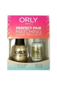 Orly Lacquer + Gel FX - Perfect Pair Matching DUO Kit - Champagne Slushie