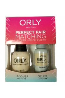 Orly Lacquer + Gel FX - Perfect Pair Matching DUO Kit - Faux Pearl