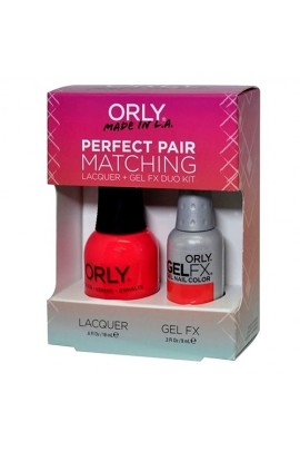 Orly Lacquer + Gel FX - Perfect Pair Matching DUO Kit - Hot Shot