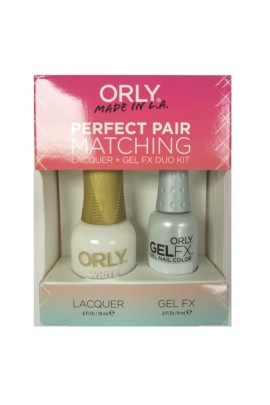 Orly Lacquer + Gel FX - Perfect Pair Matching DUO Kit - White Tips
