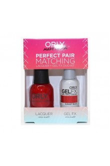 Orly Lacquer + Gel FX - Perfect Pair Matching DUO Kit - Haute Red