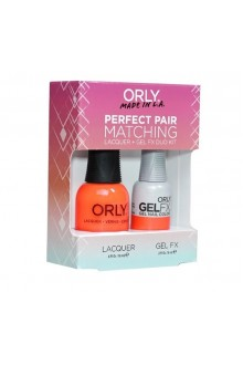 Orly Lacquer + Gel FX - Perfect Pair Matching DUO Kit - Orange Sorbet