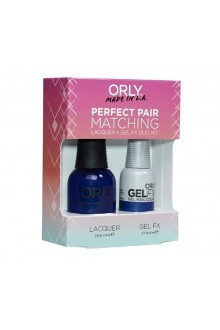 Orly Lacquer + Gel FX - Perfect Pair Matching DUO Kit -Royal Navy