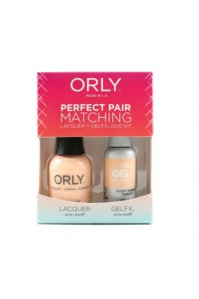 Orly - Perfect Pair Matching Lacquer + Gel FX - Everything's Peachy - 0.6 oz / 0.3 oz