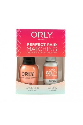 Orly - Perfect Pair Matching Lacquer + Gel FX - Positive Coral-ation - 0.6 oz / 0.3 oz