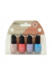 Orly Nail Lacquer - Radical Optimism 2019 Collection - Mini 4pc Kit - 0.18oz / 5.3ml Each