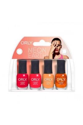 Orly Nail Lacquer Mani Minis - Neon Earth - 4 x 0.18 Fl Oz / 5.3 mL