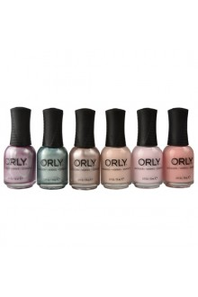 Orly Nail Lacquer - Pastel City 2018 Spring Collection - ALL 6 Colors - 0.6oz / 18ml Each
