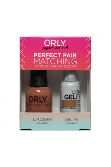 Orly - Perfect Pair Matching Lacquer+Gel FX Kit - Coffee Break - 0.6 oz / 0.3 oz