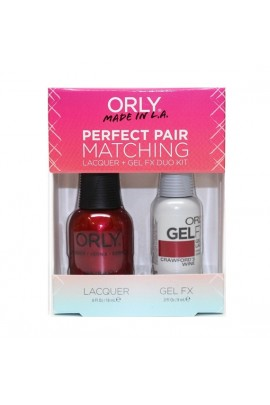 Orly - Perfect Pair Matching Lacquer+Gel FX Kit - Crawford's Wine - 0.6 oz / 0.3 oz