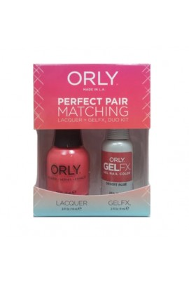 Orly - Perfect Pair Matching Lacquer+Gel FX Kit - Desert Rose - 0.6 oz / 0.3 oz
