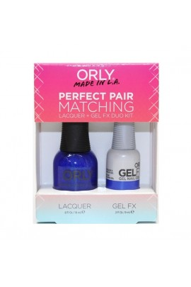 Orly - Perfect Pair Matching Lacquer+Gel FX Kit - In The Navy - 0.6 oz / 0.3 oz