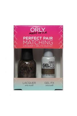 Orly - Perfect Pair Matching Lacquer+Gel FX Kit - Party In The Hills - 0.6 oz / 0.3 oz