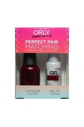 Orly - Perfect Pair Matching Lacquer+Gel FX Kit - Ruby - 0.6 oz / 0.3 oz