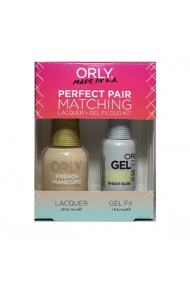 Orly - Perfect Pair Matching Lacquer+Gel FX Kit - Sheer Nude - 0.6 oz / 0.3 oz