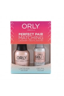 Orly - Perfect Pair Matching Lacquer+Gel FX Kit - Silken Quartz - 0.6 oz / 0.3 oz