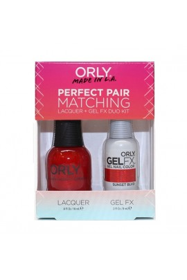 Orly - Perfect Pair Matching Lacquer+Gel FX Kit - Sunset Blvd - 0.6 oz / 0.3 oz