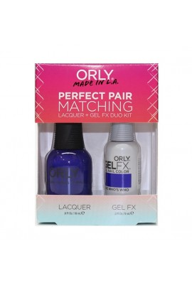 Orly - Perfect Pair Matching Lacquer+Gel FX Kit - The Who's Who - 0.6 oz / 0.3 oz