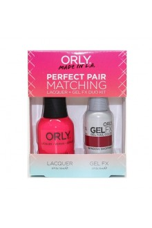 Orly - Perfect Pair Matching Lacquer+Gel FX Kit -Window Shopping - 0.6 oz / 0.3 oz