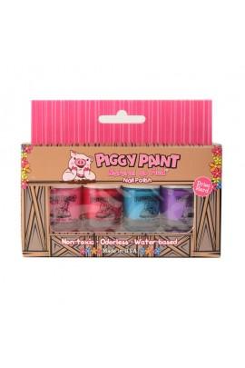 Piggy Paint - 4 Polish Box Set - 4 Nail Polish Mini Set - 0.11oz /3.5ml each