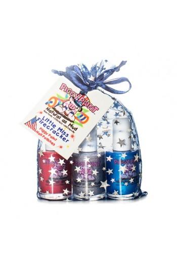 Piggy Paint - Little Miss Firecracker Gift Pack - 3 Nail Polish Set - 0.5oz/15ml each