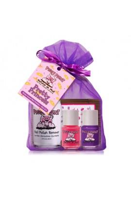 Piggy Paint - Pretty Princess Gift Kit - 2 Mini Polish+1  Remover + 1 Stickers - 0.25oz/7.4ml each, 3.4 oz/100ml