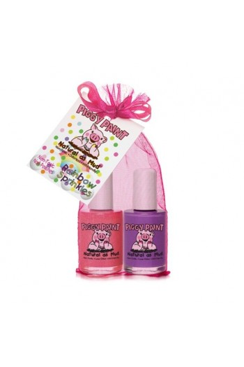 Piggy Paint - Rainbow Sprinkles Gift Set - 2 Nail Polish Set - 0.5oz/15ml each
