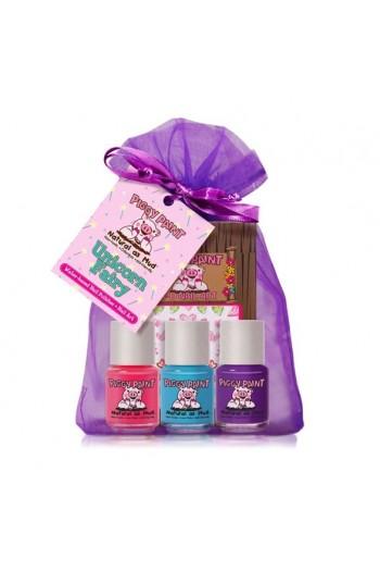 Piggy Paint - Unicorn Fairy Gift Kit - 3 Nail Polish Mini Set w/ 3D Stickers - 0.25oz/7.4ml each