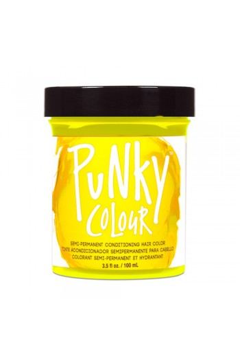 Punky Colour - Semi-Permanent Conditioning Hair Color - Bright Yellow - 3.5oz / 100mL