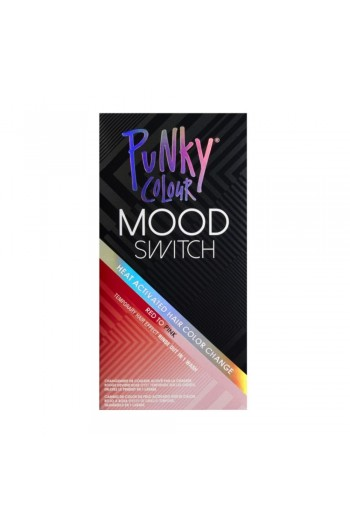 Punky Colour - Mood Switch - Heat Activated Hair Color Change - Red to Pink