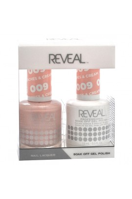 Reveal Professional - Gel & Lacquer - Peaches & Cream 009 - 15 mL / 0.5 oz