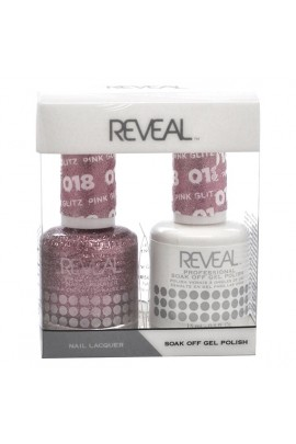 Reveal Professional - Gel & Lacquer - Pink Glitz 018 - 15 mL / 0.5 oz