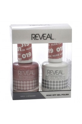 Reveal Professional - Gel & Lacquer - Nude Satin 019 - 15 mL / 0.5 oz