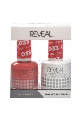 Reveal Professional - Gel & Lacquer - Orange Flame 033 - 15 mL / 0.5 oz
