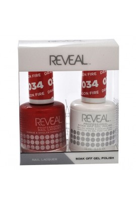 Reveal Professional - Gel & Lacquer - Dragon Fire 034 - 15 mL / 0.5 oz